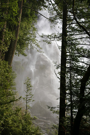 Shannon Falls after a heavy rain.
